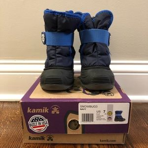 Kamik Toddler Navy Snow Boots